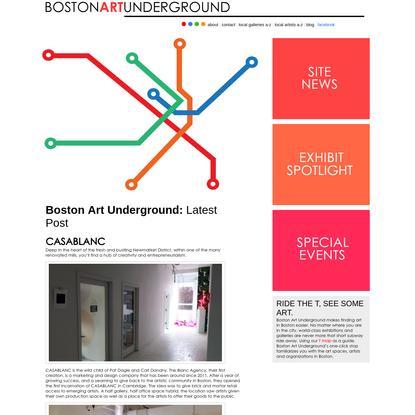BOSTON ART UNDERGROUND