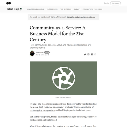 Community-as-a-Service: A Business Model for the 21st Century
