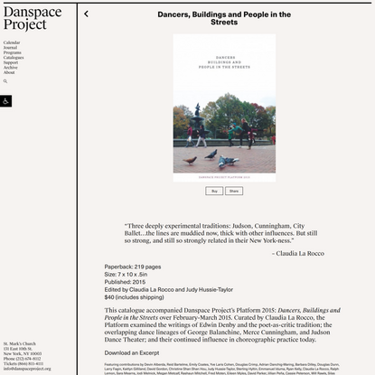 Dancers, Buildings and People in the Streets – Danspace Project