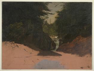 Maine, Mountain Stream, Frederic Edwin Church, August–September 1851, Smithsonian: Cooper Hewitt, Smithsonian Design Museum