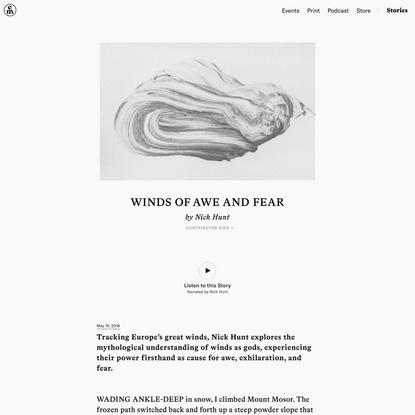 Winds of Awe and Fear – Emergence Magazine