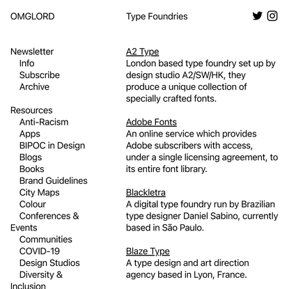 type foundries — OMGLORD