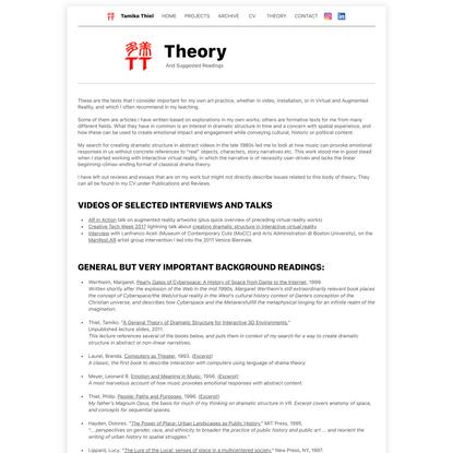 Tamiko Thiel - Theory