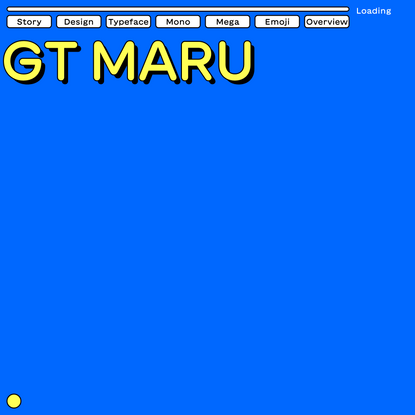 GT Maru Typeface