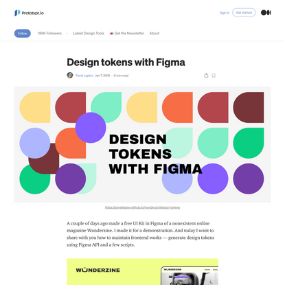 Design tokens with Figma