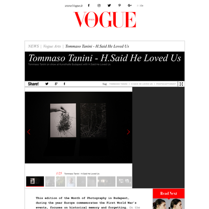 Tommaso Tanini - H.Said He Loved Us - Vogue.it