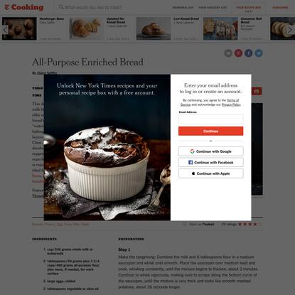 All-Purpose Enriched Bread Recipe