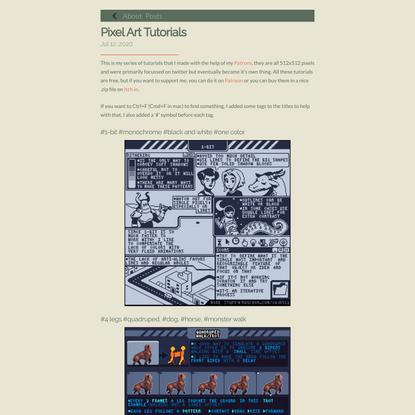 Pixel Art Tutorials - Saint11