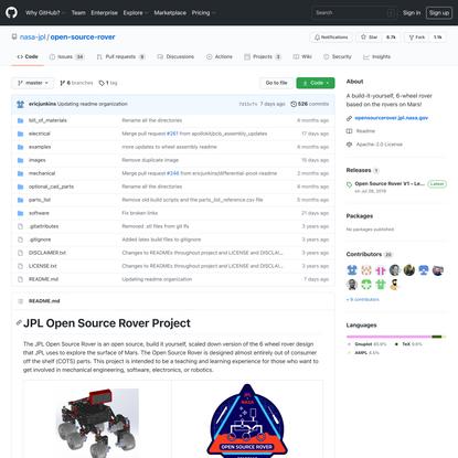 nasa-jpl/open-source-rover