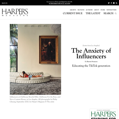 [Letter from Los Angeles] The Anxiety of Influencers, By Barrett Swanson   Harper's Magazine