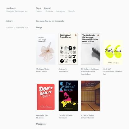 Jon Dueck – Library