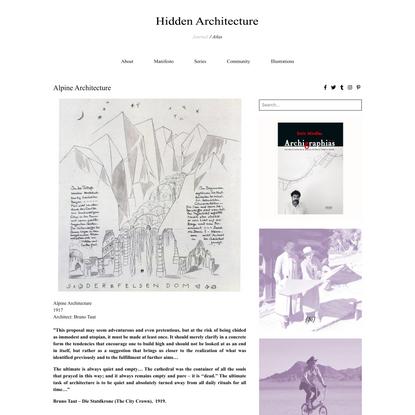 Alpine Architecture - Hidden Architecture