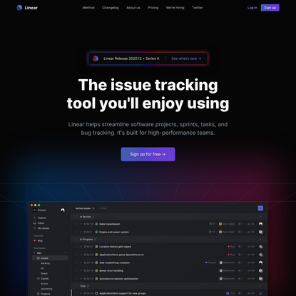 Linear – The issue tracking tool you'll enjoy using