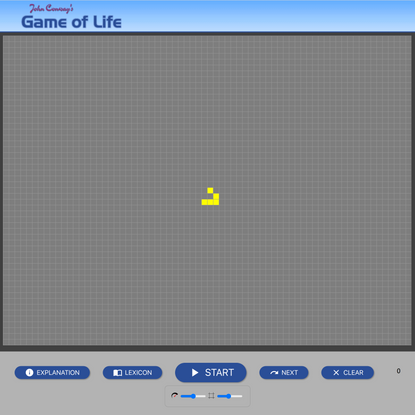 Play John Conway's Game of Life