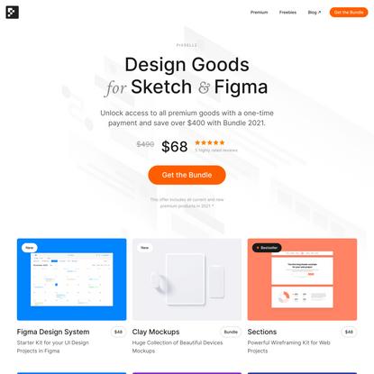 Pixsellz – UI/UX Design Resources for Sketch & Figma