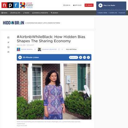 #AirbnbWhileBlack: How Hidden Bias Shapes The Sharing Economy