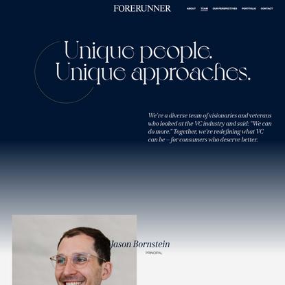 Forerunner Ventures — Our Team