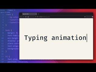 Customizable typewriter animation with CSS
