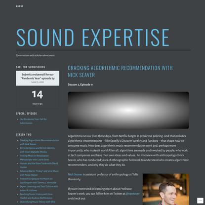 Sound Expertise