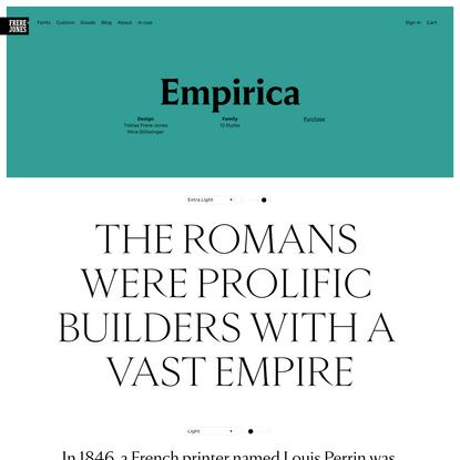Empirica: a family from Frere-Jones Type