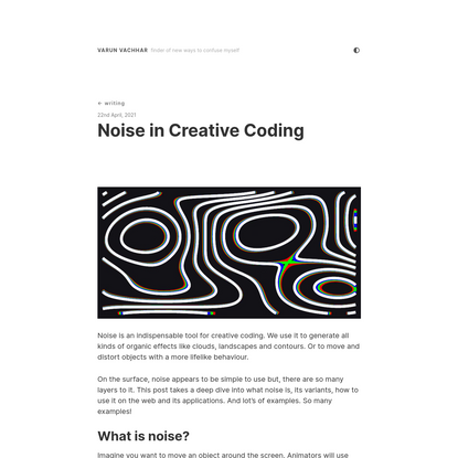 Noise in Creative Coding