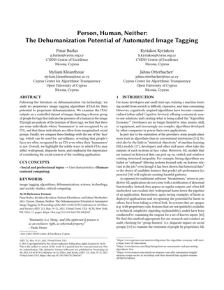 Person, Human, Neither:The Dehumanization Potential of Automated Image Tagging