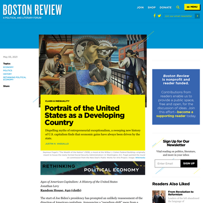 Portrait of the United States as a Developing Country