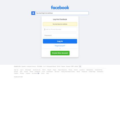 Log into Facebook