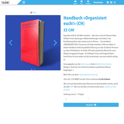 Handbuch «Organisiert euch!» (CH)