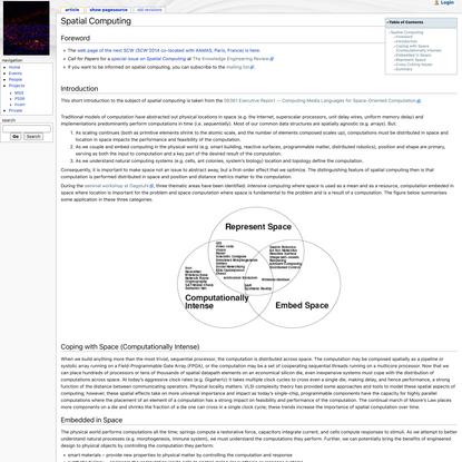 Spatial Computing - Spatial Computing web page