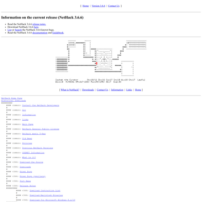 NetHack 3.6.6: Main Page