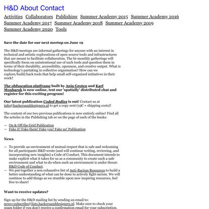Hackers & Designers • H&D
