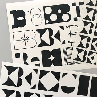 B e ♣️B e 🎵B e ◼️B e ✔️ #bureaugrusenmeyer #typedesign #sketches #be #be #be
