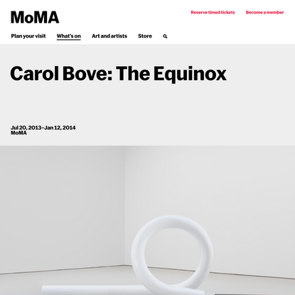 Carol Bove: The Equinox | MoMA