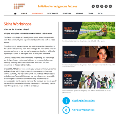 Workshops – Initiative for Indigenous Futures