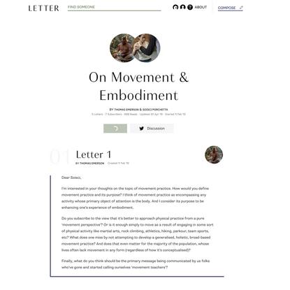 On Movement & Embodiment
