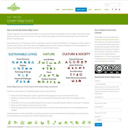 Green Map Icons | GreenMap.org