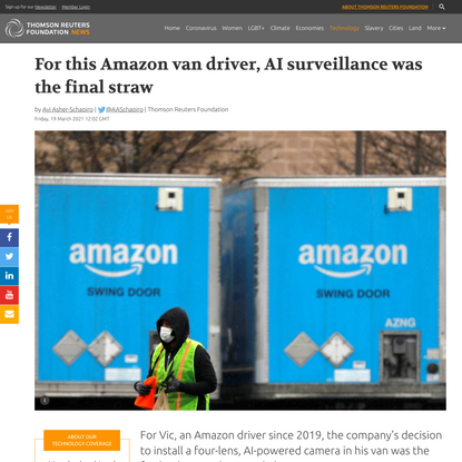 For this Amazon van driver, AI surveillance was the final straw