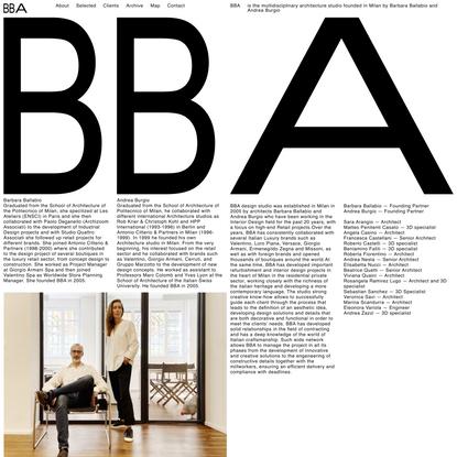 About - BBA - Barbara Ballabio Andrea Burgio