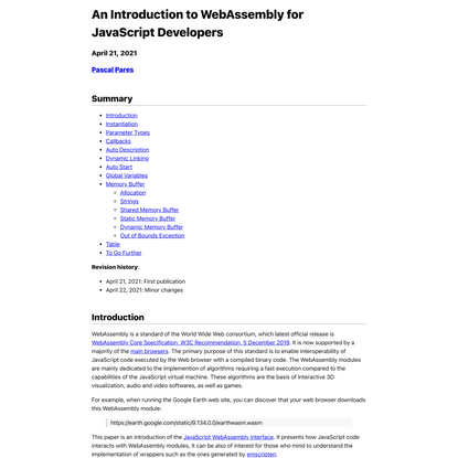 An introduction to WebAssembly for JavaScript Developers
