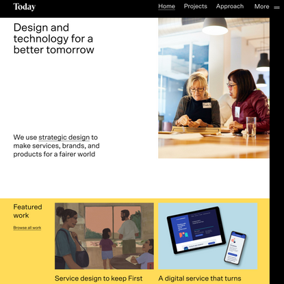 Creating brighter futures | Strategic Design Agency | Today