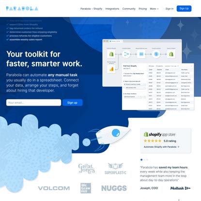Parabola: automate any manual task