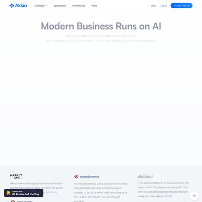 Build AI Without Code | No Code AI - Akkio