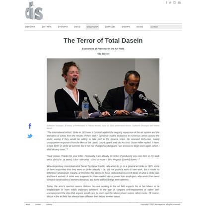 The Terror of Total Dasein | Hito Steyerl