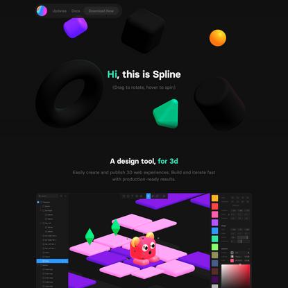 Spline - Design tool for 3D web experiences