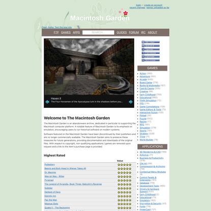 Macintosh Garden - Celebrating Macintosh Abandonware!