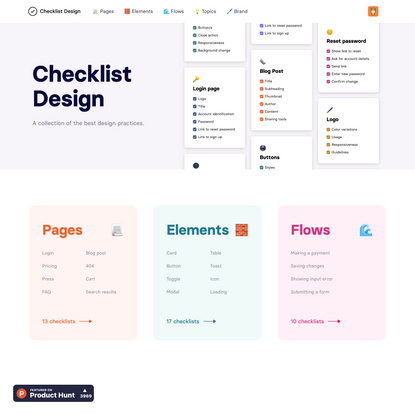 Checklist Design - A collection of the best design practices.