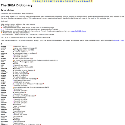 The IKEA Dictionary