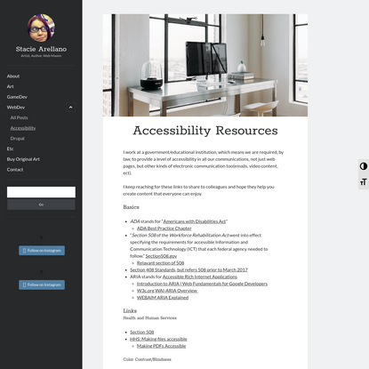 Accessibility Resources