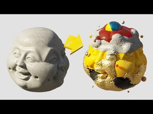 Cinema 4D Tutorial Use Volume Builder and Mograph Fields for amazing Texturing Effects